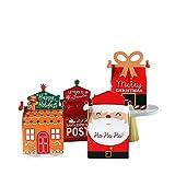 Cajas de regalo de Navidad, 24 unidades de papel kraft para regalo de golosinas dulces de golosinas, perfectas para regalar en familia o regalo de Navidad