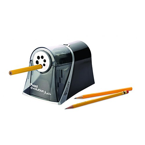 Westcott Electric iPoint Evolution Axis Heavy Duty Pencil Sharpener, Black and Silver Photo #2