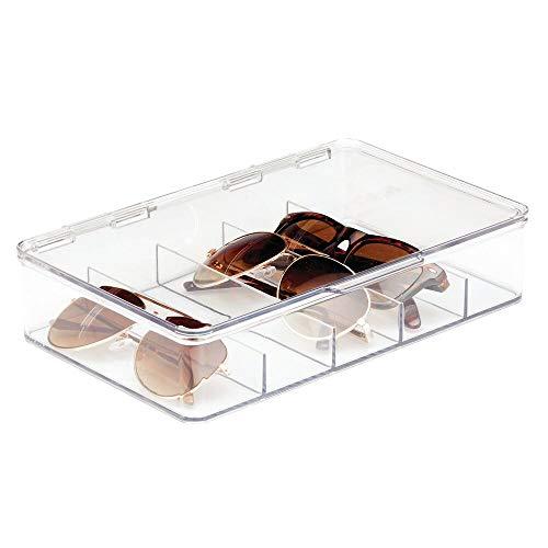 mDesign Aufbewahrungsbox für Brillen – die praktische Fächerbox als Brillen Ablage