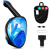 QUWIN Full Face Snorkel Mask, Snorkeling Mask with Latest Dry Top System, 180 Degree Panoramic View Anti-Leak/Anti-Fog with Detachable...