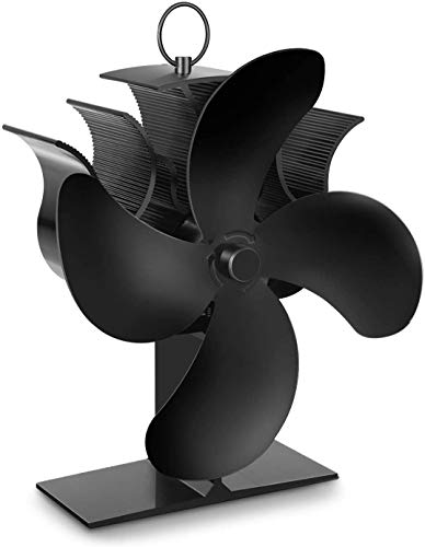 MYJZY Chimenea Ventilador, Ventilador del Horno con termómetro, 40S Inicio rápido y el Cuatro Veces la Velocidad de circulación del Aire, Ventilador de Chimenea de hornos, Estufas de leña y ch