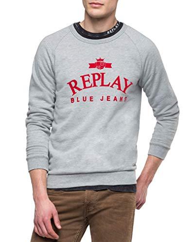 Replay Herren M3916 .000.21842 Sweatshirt, Grau (Light Grey Melange. M05), (Herstellergröße: XX-Large)