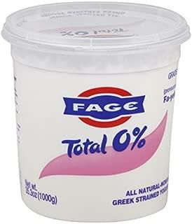 Fage Total Greek 0% Greek Yogurt, 35.3 Ounce (Pack of 6)