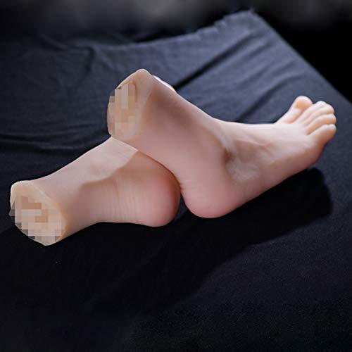 Miwaimao Juguetes Fetiche,Pie de Silicona,Silicona Maniquí Pie,Fetiche de pies Maniquí de pies de Silicona, Modelo de pies de Silicona Modelos Femeninos,Pies Femeninas de Silicona