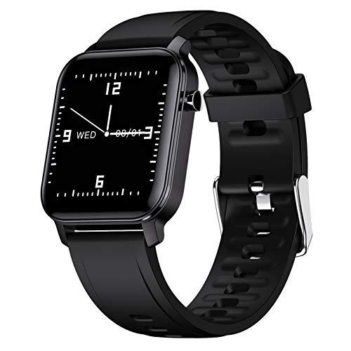 LTLGHY Smartwatch, Reloj Inteligente Impermeable IP68 para Hombre Mujer Pulsera De Actividad Inteligente con 15 Modos De Deporte con Pulsómetro Blood Pressure Sueño Podómetro,Negro