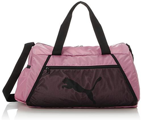 PUMA At ESS Barrel Bag Bolsa Deporte, Mujer, Foxglove/Puma Black, OSFA