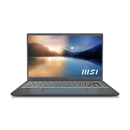 "MSI Prestige 14Evo A11M-003ES - Ordenador portátil de 14"" FullHD (Intel Core i7-1185G7, 16GB RAM, 512GB SSD, Intel Iris Xe Graphics, Windows 10 Home Plus) Glossy Grey - Teclado QWERTY Español"