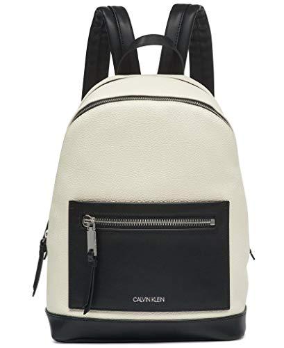 Calvin Klein Women's Kinsley Novelty Backpack, Cherub White/Black Combo, One Size