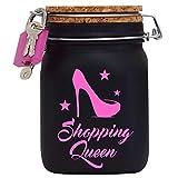 Shopping Queen XXL-Spardose die Geld Geschenk-Idee für die Frau oder Mädchen mit Korkdeckel und...