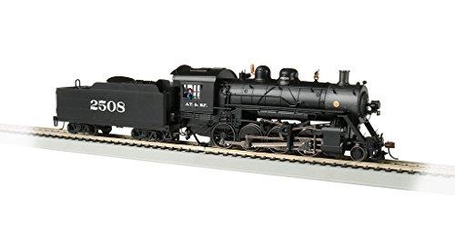 Bachmann Baldwin 2-8-0 DCC Sound Value Equipped Locomotive - Santa Fe #2508 - HO Scale, Prototypical black