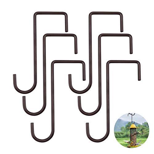 6Pcs Cerca de suspensión de la Planta Ganchos colgados de la Pared Soportes para Candelabros de Interior y Exterior,plantas y Jardineras,Comederos para Pájaros,Decoraciones de Jardín