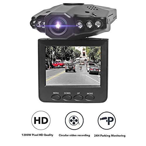JuneJour Dashcam Autokamera 1080P Rückspiegel Monitor mit Rückfahrkamera Lens Touchscreen 140° Weitwinkel Nachtsicht Auto Camea G Sensor Daueraufnahme für Taxi 2,5 Zoll