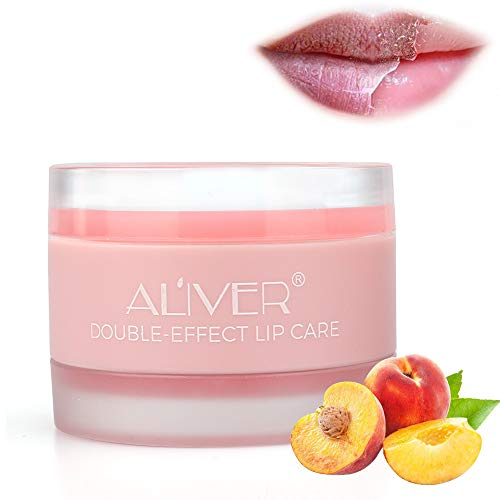 Lip Sleep Mask - Lip Mask with Collagen Peptide - Night Treatments Lip balm Chapped for Cracked lips, Dry lips, wrinkles lips for girls, women and Men(Peach)