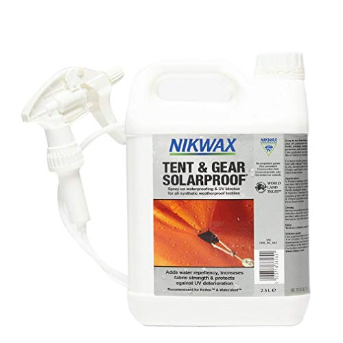 Nikwax Tent and Gear SolarProof 2.5 Litre Spray, White, One Size