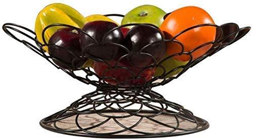 Beautiful Household Storage Bowls Metal Chrome-Plated Geometric Wrought Iron Fruit Basket Kitchen Storage Basket Large Capacity Hollow Black Fruit Rack Home Creative Fruit Basket 32 16Cm Fruit Tray