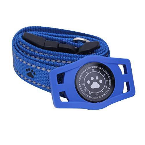 TEHAUX Mini Collar USB Impermeable para Mascotas GPS localizador en Tiempo Real GPS Anti-perdida gsm GPS Collar para Mascota Perro Gato (Azul)