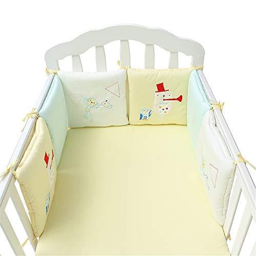 Tour de lit Bébé Protection Literie Enfant Coussin 6 Pièce 30 * 30cm Protection Anti-cogner (Joie)
