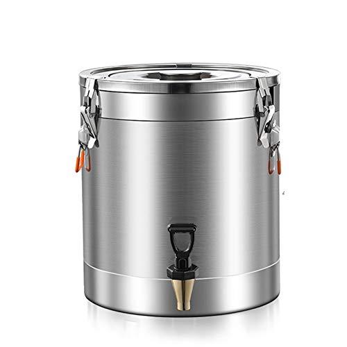 Jarra de acero inoxidable 304 con tapas con grifo Fermentador casero Brew Wine Beer Making Drum, aceite de almacenamiento, arroz barril de agua (tamaño: 20L)
