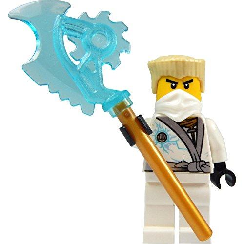 LEGO Ninjago -Minifigura Zane Rebooted (Ninja Blanco) con Techno-Hoja Azul-Transparente