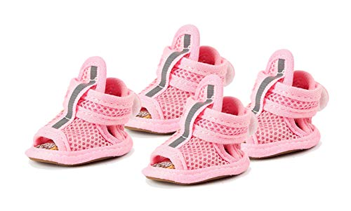GabeFish Small Dog Summer Mesh Sandal Shoes Puppy Cats Breathable Paw Protectors