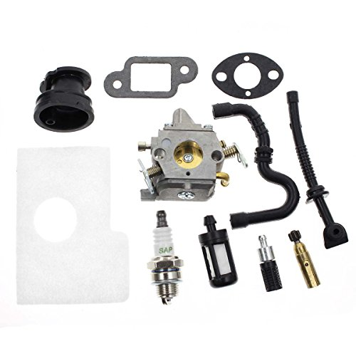 Carbhub MS170 Carburetor for Stihl MS170 MS180 017 018 Chainsaw with Air Filter Fuel Oil Line Spark Plug, Replaces C1Q-S57 C1Q-S57A C1Q-S57B 1130 120 0603, Stihl MS170 Carburetor