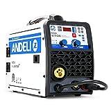ANDELI Soldadora monofásica MIG-270E 220V 3 en 1 MIG ARC MMA TIG sin gas