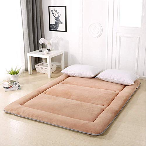 Lqfcjnb Folding Mattress Foldable Futon Mattress Sleeping Tatami Floor Mat Portable Thicken Pad Floor Mat Spare For An Extra Bed Or Guest Bed Easy Storage Without Occupying Space
