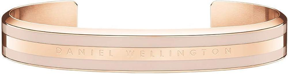 Daniel wellington, bracciale per donna, in acciaio inossidabile con una raffinata placcatura in oro rosato Dw00400011