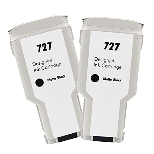 VDFHB Adecuado para el Cartucho de Tinta de Plotter HP727, para T920 T1500 T2500 T930 T1530 T2530 Tinta Plotter Grey+PK