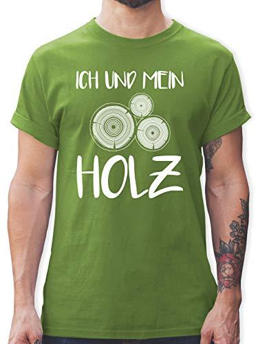 Sprüche - Ich und Mein Holz - S - Hellgrün - t-Shirt Holz - L190 - Tshirt Herren und Männer T-Shirts