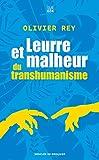 Leurre et malheur du transhumanisme - Desclée De Brouwer - 12/02/2020