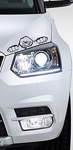 MS Car Sticker Skoda Yeti Monster Aufkleber 20x6cm (schwarz glänzend)