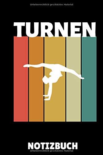 TURNEN NOTIZBUCH: A5 Notizbuch KARIERT Geräteturnen | Bodenturnen | Geräte turnen | Geschenkidee für Turner Kinder Jugendliche | Sport | Gymnastik | Turnen Unterricht