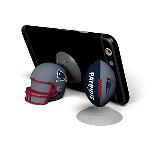 Sports Suckerz NFL New England Patriots Helm und Football Figuren, Handyhalterung 2er-Set
