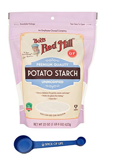 Bob's Red Mill Gluten Free Potato Starch, 22 oz - with Spice of Life 4-in-1 Measuring Spoon