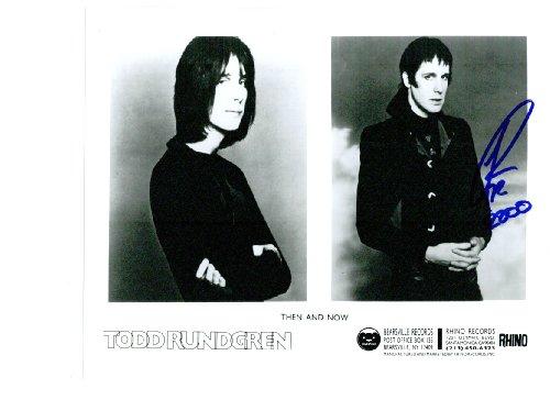 Todd Rundgren 8 x 10 celebrity photo autographs