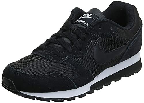 Nike MD Runner 2, Zapatillas de Running Mujer, Negro (Black / Black-White), 36.5 EU