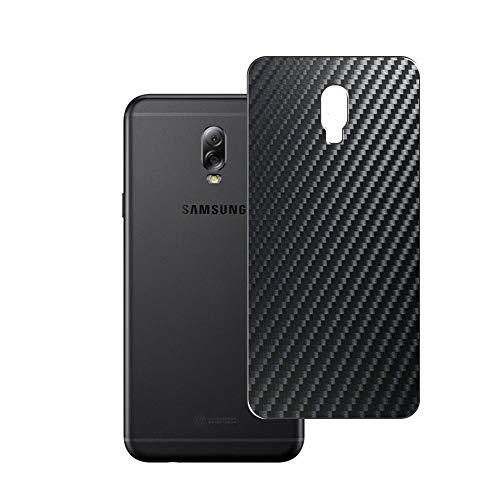 Vaxson 2 Unidades Protector de pantalla Posterior, compatible con Samsung Galaxy C7 2017, Película Protectora Espalda Skin Cover - Fibra de Carbono Negro