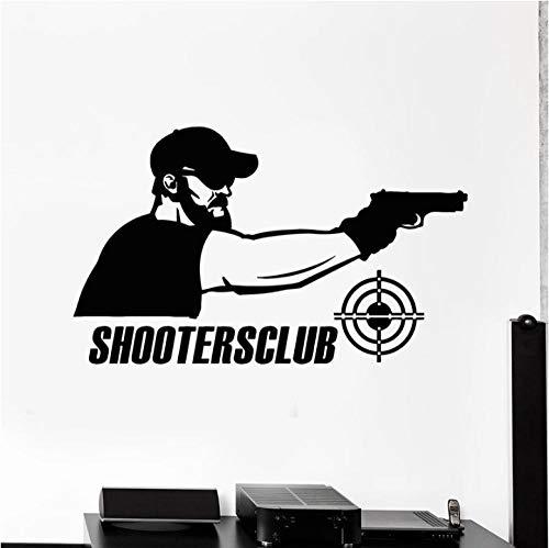 Wandaufkleber Abziehbilder Shooter Target Shooters Club Gun Schießstand Innendekor Logo Fenster Leisure Sport Wallpaper 57X34 cm