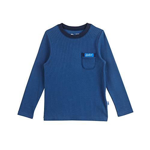 Finkid Laku Blau, Kinder Langarm-Shirt, Größe 90-100 - Farbe Denim - Navy