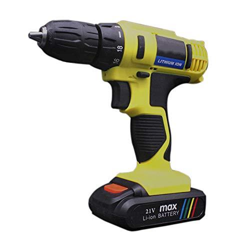 Preisvergleich Produktbild ACBAZEFA Flach Push Wiederaufladbare Handbohrmaschine Multifunktions Haushalt Lithium Bohrmaschine Gun Elektroschrauber, Yellow