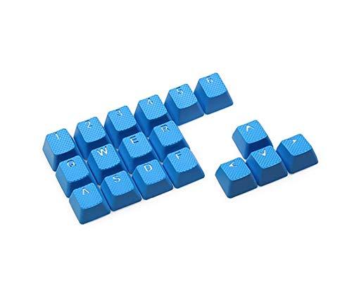 Conjunto de teclas retroiluminadas para jogos de borracha – para teclados mecânicos Cherry MX compatíveis OEM inclui puxador de chave, Sky Blue