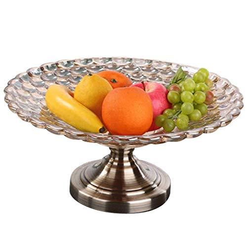 YNGH Cesta Europeo Vidrio Moderno Minimalista Sala de Estar decoración de Dulces Plato Plato Fruta Fruta-Default