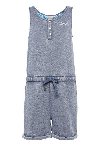 Bench BKGQ002080_Light Sweat Playsuit bequemer Jumpsuit für Mädchen mit elastischem Taillenband und vielen kleinen Details, Blau, EU 152CM