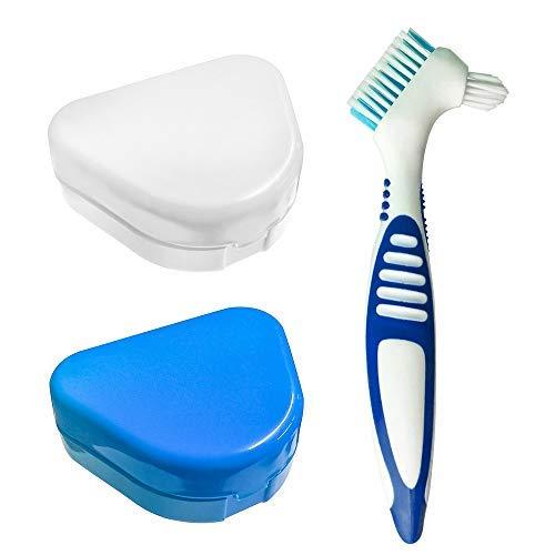 2pcs Caja de retención de ortodoncia delgada con orificios de ventilación, Caja de contenedores de almacenamiento de prótesis Estuche Dental para retenedores de ortos Deportes, aparatos dentales