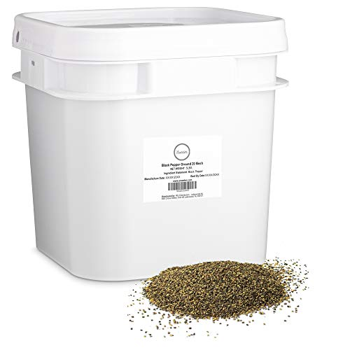 Sweeler, Ground Black Pepper - 20 Mesh, Value Large Bucket Size for Food Service or Home Use, 5lbs