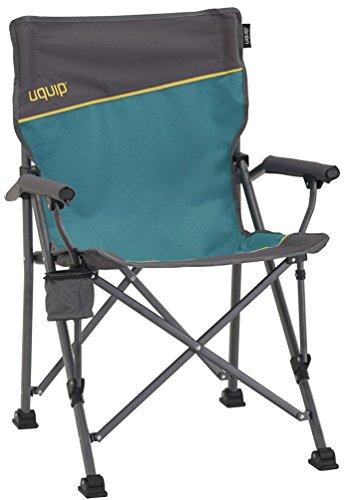 Uquip Roxy Campingstuhl mit Flaschenhalter - Stabile Ausführung bis 120 kg - Blau
