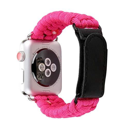 Correa de cuerda de nailon para Apple Watch Band 38 40mm Serie SE 6 5 4 3 2 1 Para Apple Watch Paracord Survival Bracelet 42mm / 44mm