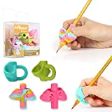 Pencil Grips, Firesara Original Pencil Aid Grips Set Butterfly and 3 Fingers Sets Ergonomic Writing Aid for Kids Preschoolers Children Adults Special Needs for Lefties or Righties(4PCS)