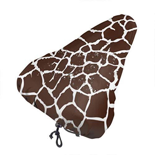 LYMT Copri Sellini per Bicicletta Coprisella Impermeabile per Bici Copertura Antipioggia Giraffa Che ripete Bianco Marrone